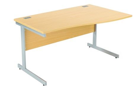Left Handed Fraction Plus Wave Desk