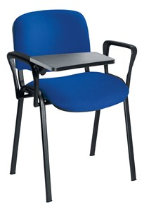 Stacking Chairs Plastic Writing Tablet Option - Black AC1043