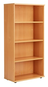 Over 1200mm High Fraction Plus Bookcase including 3 Shelves - 1600mm High