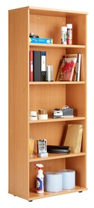 Over 1200mm High Fraction Plus Bookcase including 4 Shelves - 2000mm High