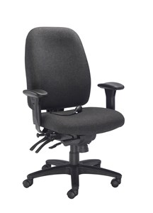 Desk Chairs Vista Posture High Back Chair Charcoal