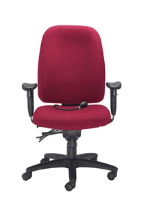 Desk Chairs Vista Posture High Back Chair Claret