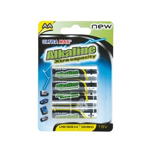 Business Value Alkaline Batteries AA Pack 4