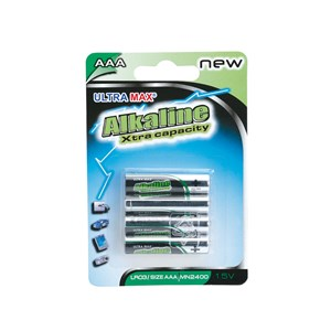 Business Value Alkaline Batteries AAA Pack 4