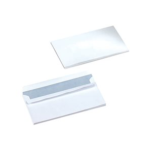 Business Office Envelopes PEFC Wallet Self Seal 90gsm DL 220x110mm White Pack 1000
