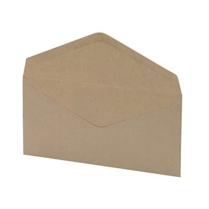 Business Office Envelopes FSC Wallet Recycled Lightweight Gummed Wdw 75gsm DL 220x110mm Manilla Pack 1000