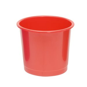 business Office Waste Bin Polypropylene 14 Litre Capacity 304x254mm Red