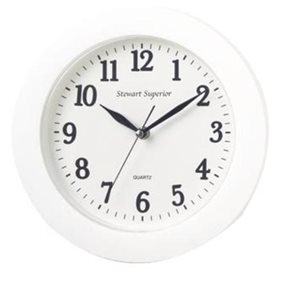 Business Facilities Wall Clock Plastic 12 Hour Dial Diameter 250mm White