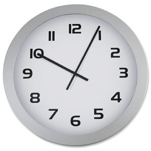 Business Facilities Wall Clock With Coloured Case Diameter 300mm White